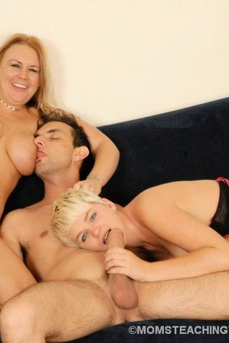 Mom Shows Teen How To Handle Cock