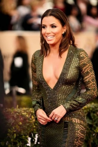 Eva Longoria Rocks A See Through Dress