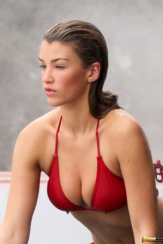 Amy Willerton Looking Awesome In A Red Bikini