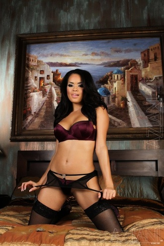 Hot Busty Babe, Daisy Marie, Looks Delicious In Her Sexy Bra, Panties, Garter And Thigh Highs, But The Most Delicious Part Is That Curvy Body Just Aching To Be Let Loose.