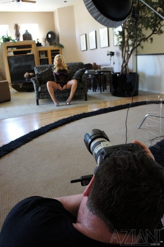 Sexy Behind The Scenes Footage Of The Bust Blonde Hottie, Candy Manson, From Her Day Shooting With Aziani.  Candy Loves Showing Off Her Big Boobies And Body!
