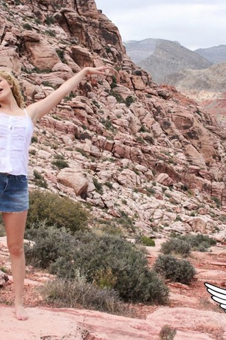 Marylin Climbs Up Some Rocks So Guys Can Look Up Her Skirt