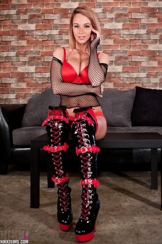 Red And Black Boots