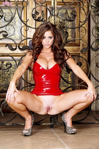 Perky Babe Emily Addison Red Latex