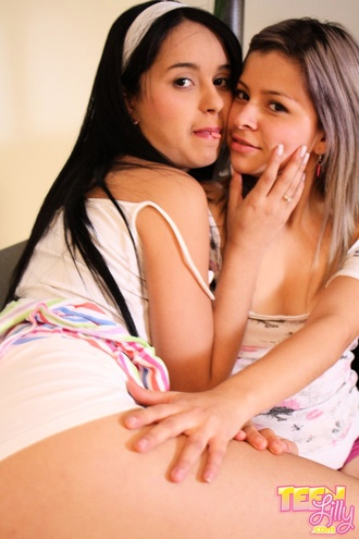 Lesbian Teen Naughty And Feeling The Skin Of Each Other