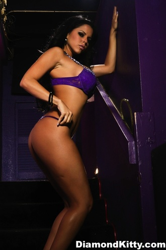 Purple Panties In Hallway