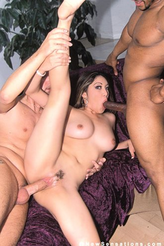 Beautiful Asian Takes On Two Cocks