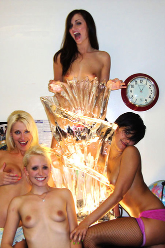 Check Out This Hot Fucking College Group Sex With 5 Super Hot Mini Skirt Babes Getting Fucked Agasint An Ice Sculpture Amazing