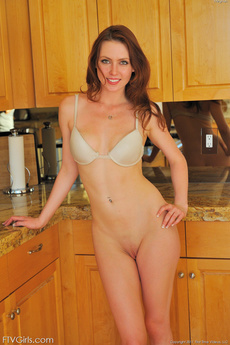 Meghan Panty Stuffing In The Kitchen