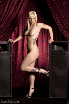 Lynn Naked With Speakers