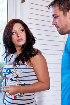 Angelica Raven Sucks Her Neighbors Cock Until It Explodes All Over Lips.