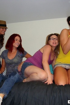 Watch These Horny College Babes Get Drunk Off A Home Made Beer Bong Then Fucked Hard In These Hot Pics