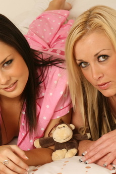 Kates Sexy Girlfriends Alicia And Brooke Strip Each Other Naked Before Bedtime