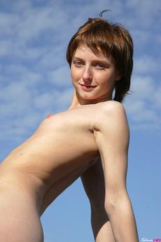 Nikki Flight Russian Skinny Redhead Teen Outdoor