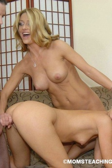 Mom And Teen Share Fat Dick