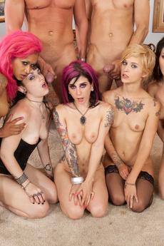 Tattoo Slut 5 Girl Orgy