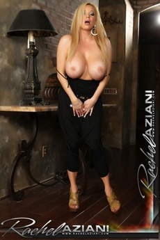 Rachel Aziani Shows Off Her Huge Tits And Huge Clit.