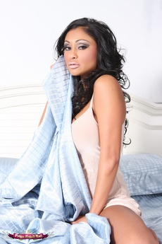 Gorgeous Indian Pornstar, Priya Anjali Rai, Looks Stunning Lounging Around Bed And Getting Naked!