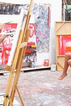 Horny Art Class Model Naked Fucked Hard On The Bar Stool Doggy Style Hot Ass Student Sex