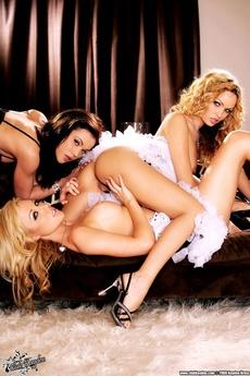 Three Sexy Pornstars Over At Club Kayden