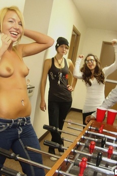 Watch These Hot Sexy Long Leg College Hotties Get Fucked Hard After Eating Eachother Out In This College Dormroom Orgy Party