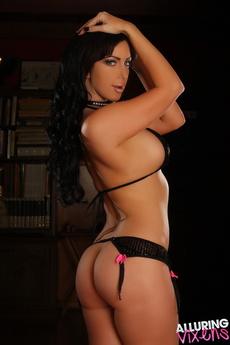 Busty Alluring Vixen Babe Alexia Teases In A Tiny Bikini Top And No Bottoms