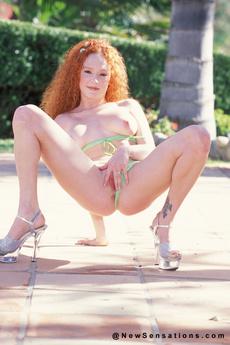 Audrey Hollander Does A Little Strip Outside