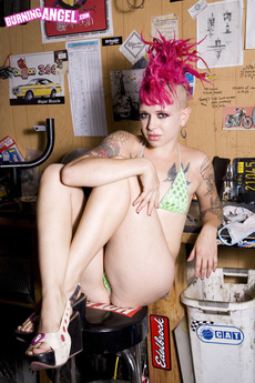 Punk Girl Roxy Strips Just For You