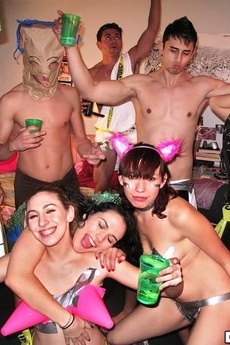 Sexy College Teens In Undies Get Fucked And Creamed In These Real Crazy College Party Fuck Pics