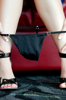 Bryci Pulls Down Her Tiny Black Panties.