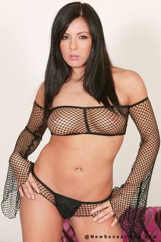 Lorena Sanchez Posing In Black Panties