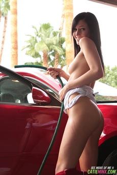 Catie Minx Red Shorts