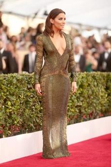 Eva Longoria Rocks A See Through Dress