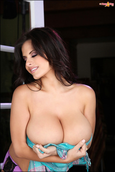 Wendy Fiore In Purple And Turquoise