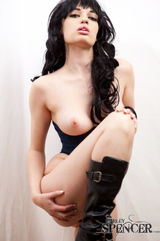 Sexy Brunette In Boots