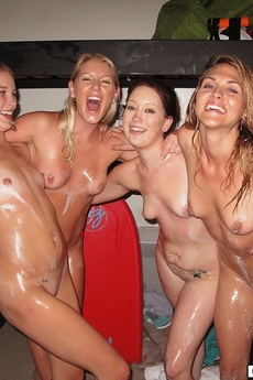 Smoking Hot Young College Babes Get Fucked And Licked In This Dorm Room Orgy After A Slip And Slide Soapy Adventure Hot College Teen Pics