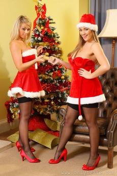 Jodie Gasson & Melissa D As Sexy Santa's