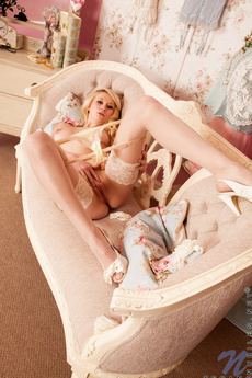 Gorgeous Blonde Nubile Tegan Slips Off Her Lingerie And Spreads Her Hot Pussy