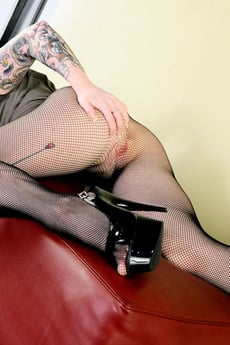 Misti Dawn In Sexy Skirt And Fishnets