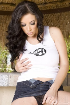 Busty Brunette Babe, Jelena Jensen, Shows Off Her Incredible Big Boobs And Smoking Body In And Out Of Her Aziani Gear!