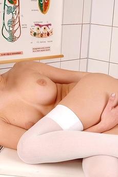 Nurse Virginiee Showing Pink