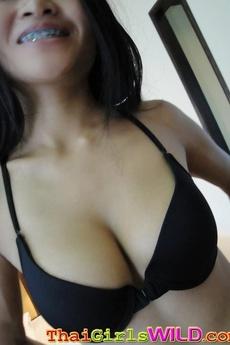 Horny Schoolgirl With Braces Enjoys Cock Deep In Her Thai Pussy