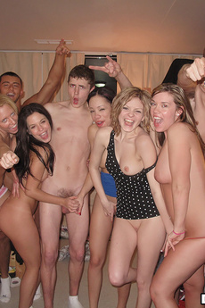 Sexy College Teenies Fucked In This Real Foam Party Dorm Room Sex