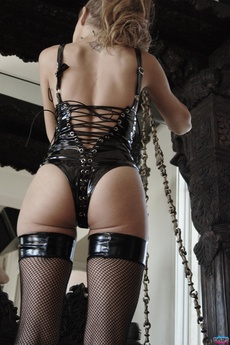 Kinky Babe In Leather