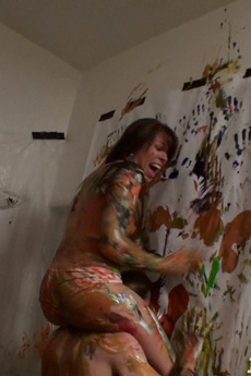 Look At This Amazing College Dorm Body Paint Group Sex Orgy Awesome Cum Faced Party
