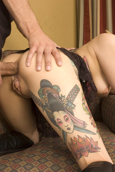 Blonde Tattooed Slut Cali Gets Fucked In All Her Holes