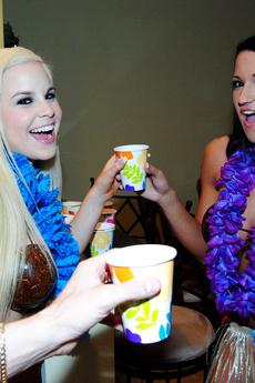 The Girlfriend And I Head To A Hawaiian Themed Par