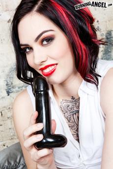 Tattooed Indy Slut Taurus Fucks Herself With A Dildo