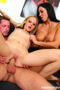 Hot Threesome Teaching Fun