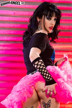 Tattooed Brunette Shows Off Panties And New Tutu